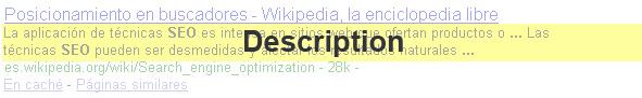 Descriptions Google