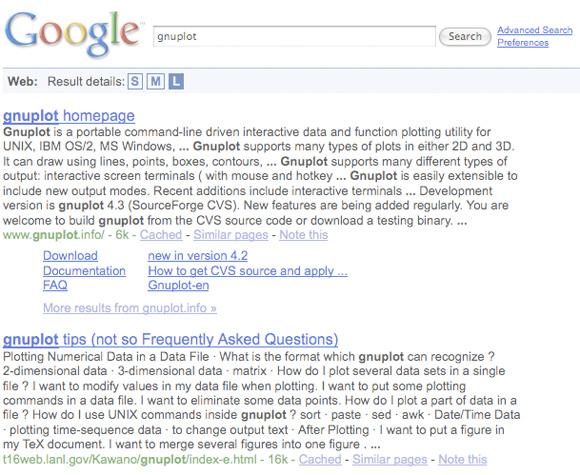 SML Serps Google